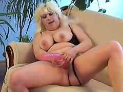 All silicone lovers of a blonde mature fatty